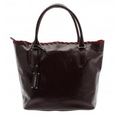 Capoverso leather Italian handbag bordeaux