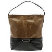 CAPOVERSO | Elegantní velká kabelka z hladké kůže