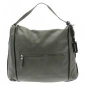 CAPOVERSO | Trendová dámská kabelka z italské kůže - šedá